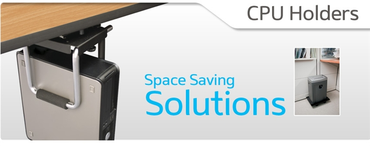 Fits CPU from 3-1//2 to 8-3//4 Black ESI Ergonomic Solutions ESICPUCART Adjustable CPU Cart